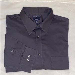 Croft & Barrow Mens Black Point Collar Dress Shirt